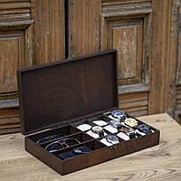 Шкатулка для часов и аксессуаров из дерева Hetch DS7