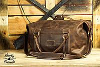 Кожаная сумка Sport&Travel DS Brown