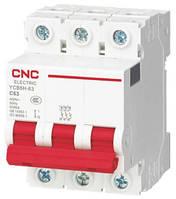 Модульный автоматический выключатель YCB6Н-63, 3Р, 2А, С, 4,5kА, CNC, фото 1