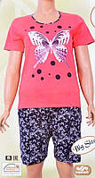 Комплект женский футболка+шорты 84960