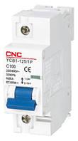 Модульный автоматический выключатель YCB1-125, 1Р, 80А, D, 6kА, CNC