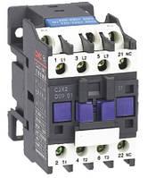 Пускатель электромагнитный CJX2-1210, 12A, АС3, 220В, 1NO, 5,5кВт, минимальное содержание серебра 50%, CNC, фото 1