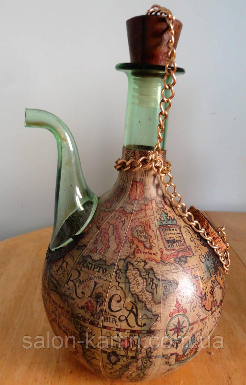 Поррон -винтажный стеклянный кувшин для  вина (Испания)