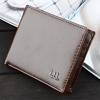 Мужское портмоне-кошелёк на два больших отдела «Money» (коричневый)