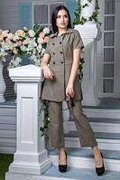 Льняной костюм Ганеша хаки (M,L,XL)