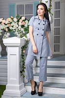 Льняной костюм Ганеша серый (M,L,XL)
