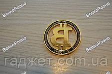 Монета Биткоин. Монета Bitcoin.  Сувенирная монета , фото 3