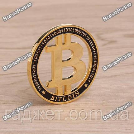 Монета Биткоин. Монета Bitcoin.  Сувенирная монета , фото 2