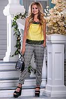 Красивая женская стильная майка-топ 2684 желтый, фото 1