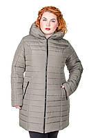Куртка зимняя размер плюс женская Катрина хаки