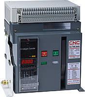 Повітряний вимикач BA79E-2000, 1000А, 3P, 415V (80kA), з електронним блоком управління викочування, CNC
