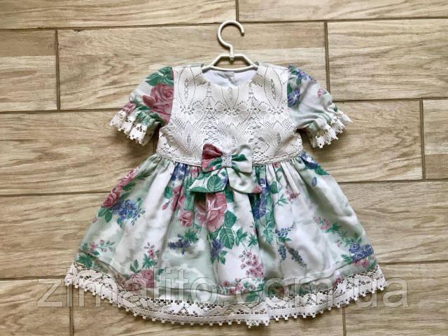 Платье детское дизайнерское с розами