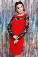 Платье Valerie красный