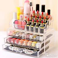 Хит!!! Акриловый настольный органайзер для косметики  Cosmetic box на 4 отделения