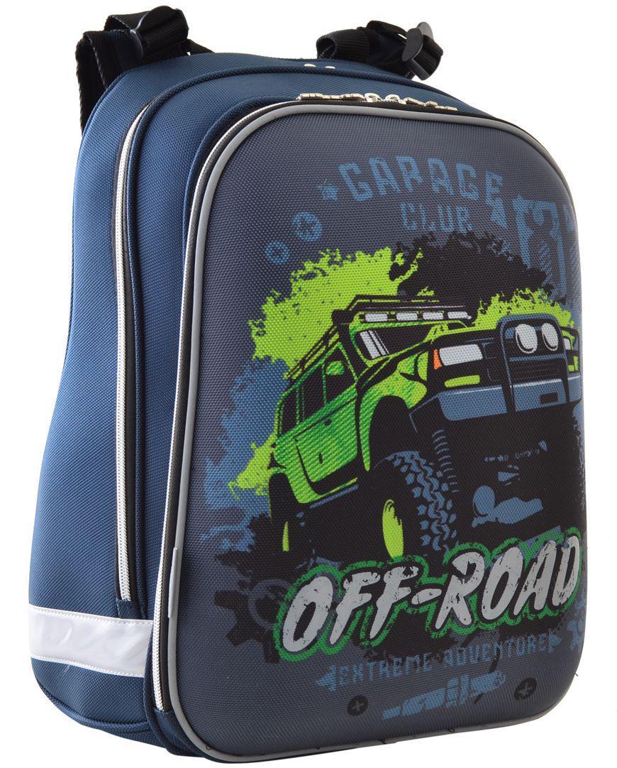 Школьный каркасный рюкзак YES! H-12 Off-road 554587 16 л Синий