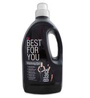 Гель для стирки Best For You Black, 1.5L, для стирки черного белья и тканей с неустойчивым цветом
