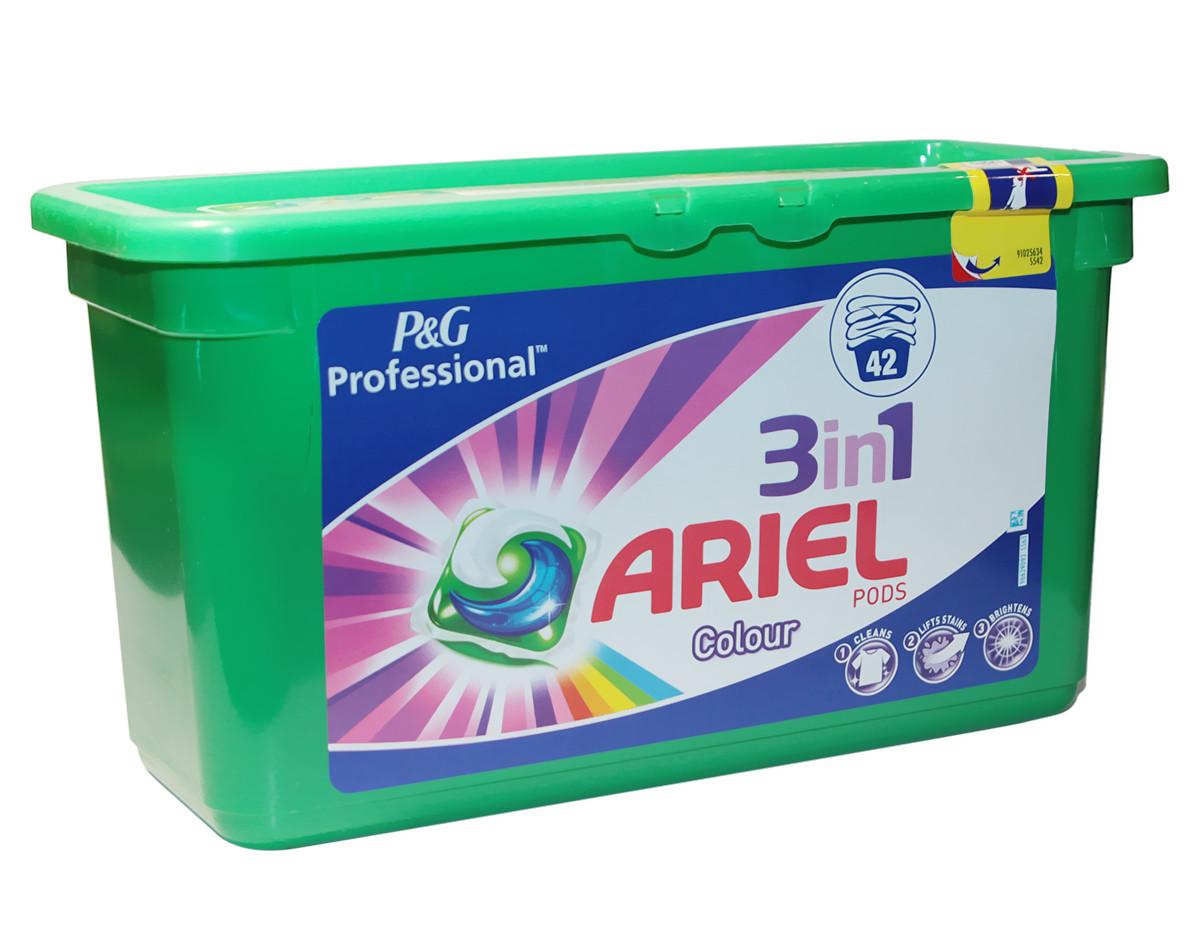 Гель-капсулы для стирки Ariel PODs 3in1, 42 шт для цветного