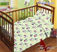 Детский комплект постельного, детское постельное, хлопковое, Панда