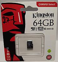 Карта пам'яті Kingston 64GB microSD class 10 UHS | U3 (microSDHC no adapter) (microSDHC no adapter)