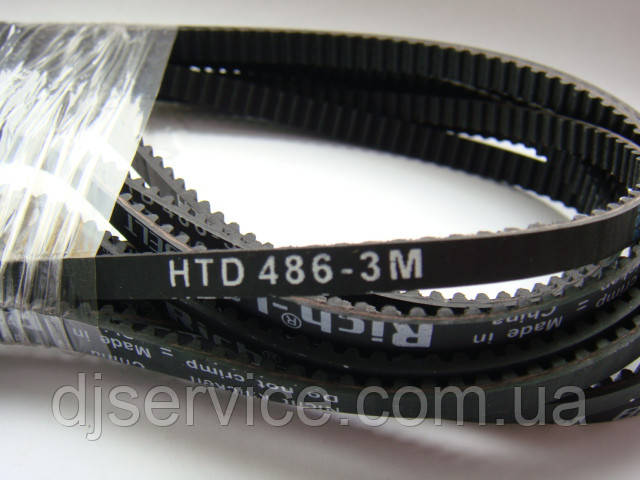Ремень HTD486-3m 6мм для хлебопечки, быт.техники и др.