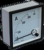 Амперметр аналоговый YC-А72, 500/5А, 72x72мм, АС, класс 1,5, подключение через трансформатор тока, CNC
