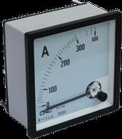Амперметр аналоговый YC-А96, 1200/5А, 96x96мм, АС, класс 1,5, подключение через трансформатор тока, CNC