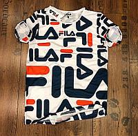 Мужская футболка FILA Фила  качественный принт - материал: 95% хлопок, 5% лайкра ) Турция  S M L XL