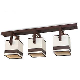 Люстра 3-х ламповая, металлическая, с деревом, спальня, зал, кухня, гостиная 30332