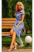 Женское платье-рубашка повседневного типа