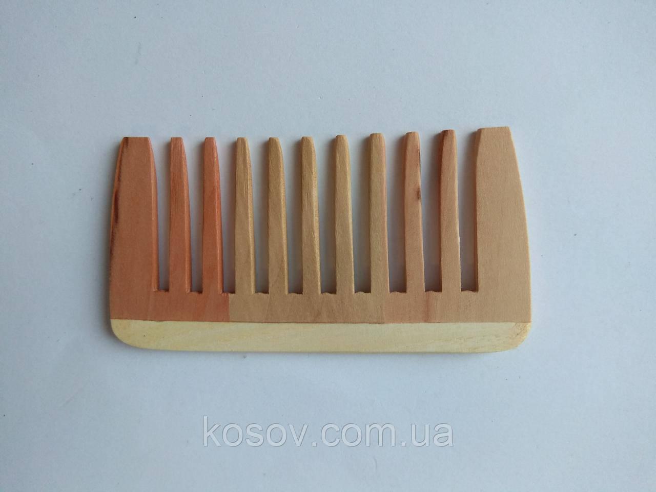 Деревянная расческа 10х5см (прямая), фото 1
