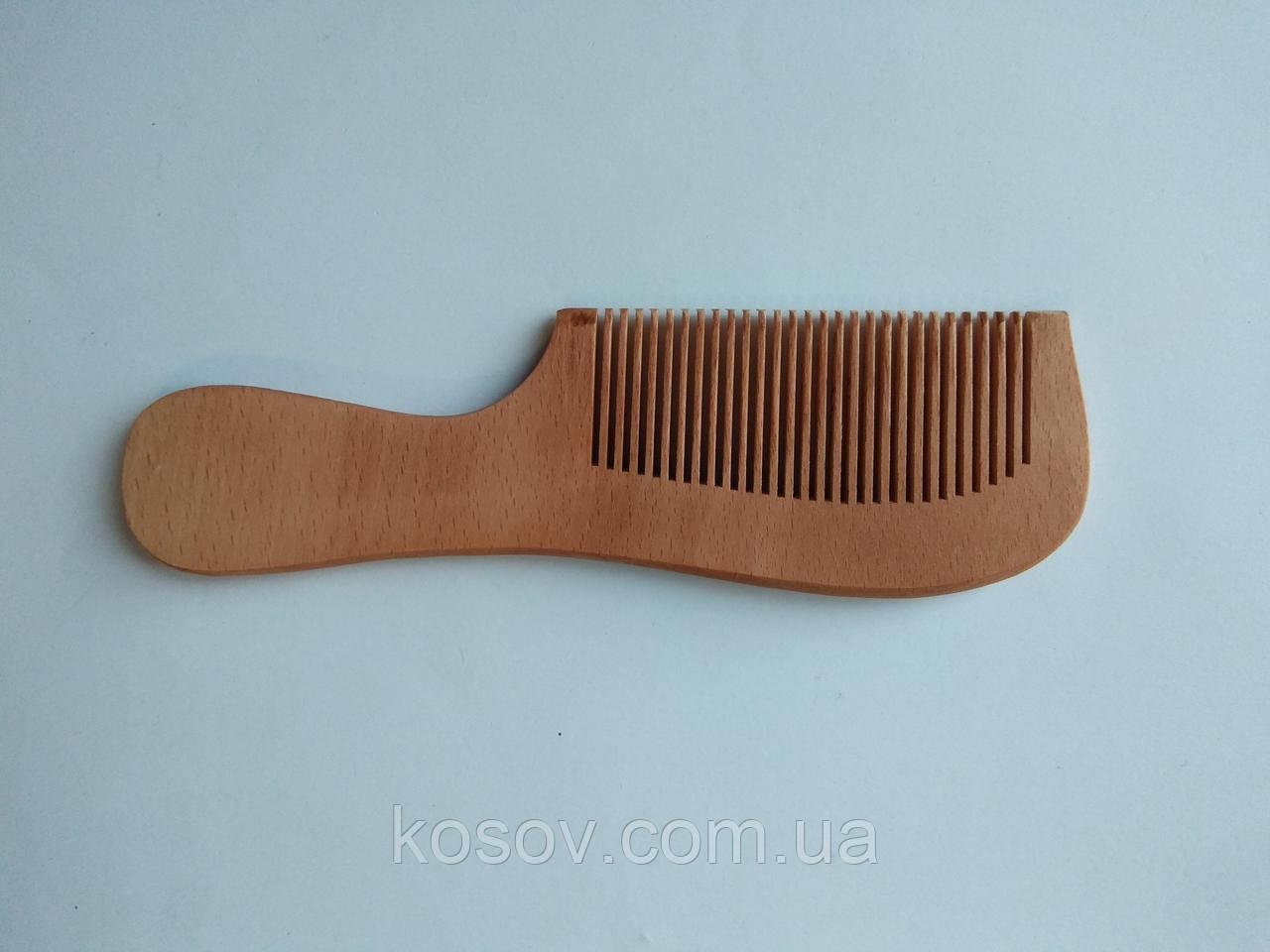 Деревянная расческа №3 18х6см (с ручкой)