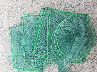 Раколовка гармошка  25х30 см 11 входов 3.3 м кордовая нить ячейка 1 см