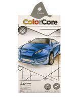 """Цветные карандаши ColorCore 24 цвета №3100-24CB """"MARCO"""" Авто (грифель 4мм) + 1 графитовый карандаш (грифель-2,9мм)"""