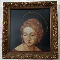 Картина Мадонна Рафаэля вышитая, багет дерево, вышитая картина