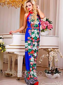 Женское летнее платье макси без рукавов (0863-0862 svt)