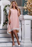 Стильное летнее женское платье  персикового цвета, фото 1