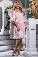 Красивое летнее женское платье розовый цвет, фото 1