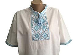 Мужская вышиванка из льна с коротким рукавом, фото 2