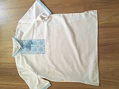 Мужская вышиванка из льна с коротким рукавом, фото 3