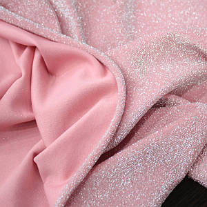 Трикотаж люрекс розовый