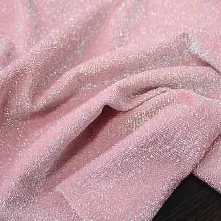 Трикотаж люрекс розовый, фото 2