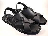 Большой размер сандалии босоножки мужские кожаные черные Rosso Avangard BS Sandals Bertal, фото 1
