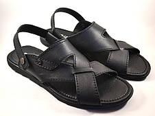Большой размер сандалии босоножки мужские кожаные черные Rosso Avangard BS Sandals Bertal