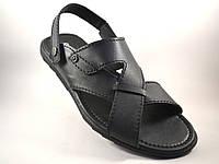 Сандалии босоножки мужские кожаные черные Rosso Avangard Sandals Bertal