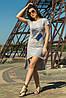Платье-туника светло-серый цвет (M-XL)