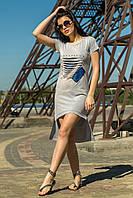 Платье-туника светло-серый цвет (M-XL), фото 1