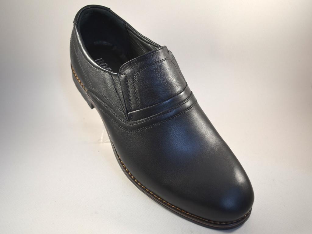Туфли мужские кожаные классические черные на резинках Rosso Avangard Felicite Rizz