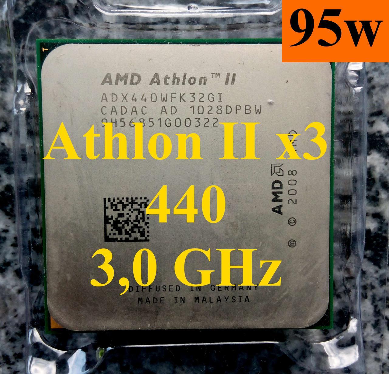 Amd Athlon Ii X3 440 30 Tray Sam3 445 450 425