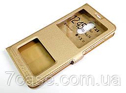Чехол книжка с окошками momax для Xiaomi Redmi 5 Plus золотой