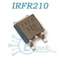 IRFR210, Mosfet транзистор N канал, 200В, 2.6А, TO252